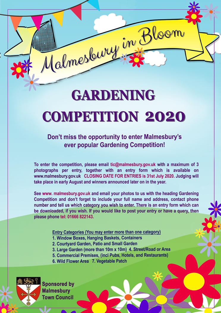 Malmesbury in Bloom - Don't forget to enter!